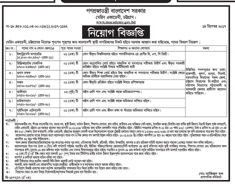 Marine Academy Bangladesh | Career Opportunity