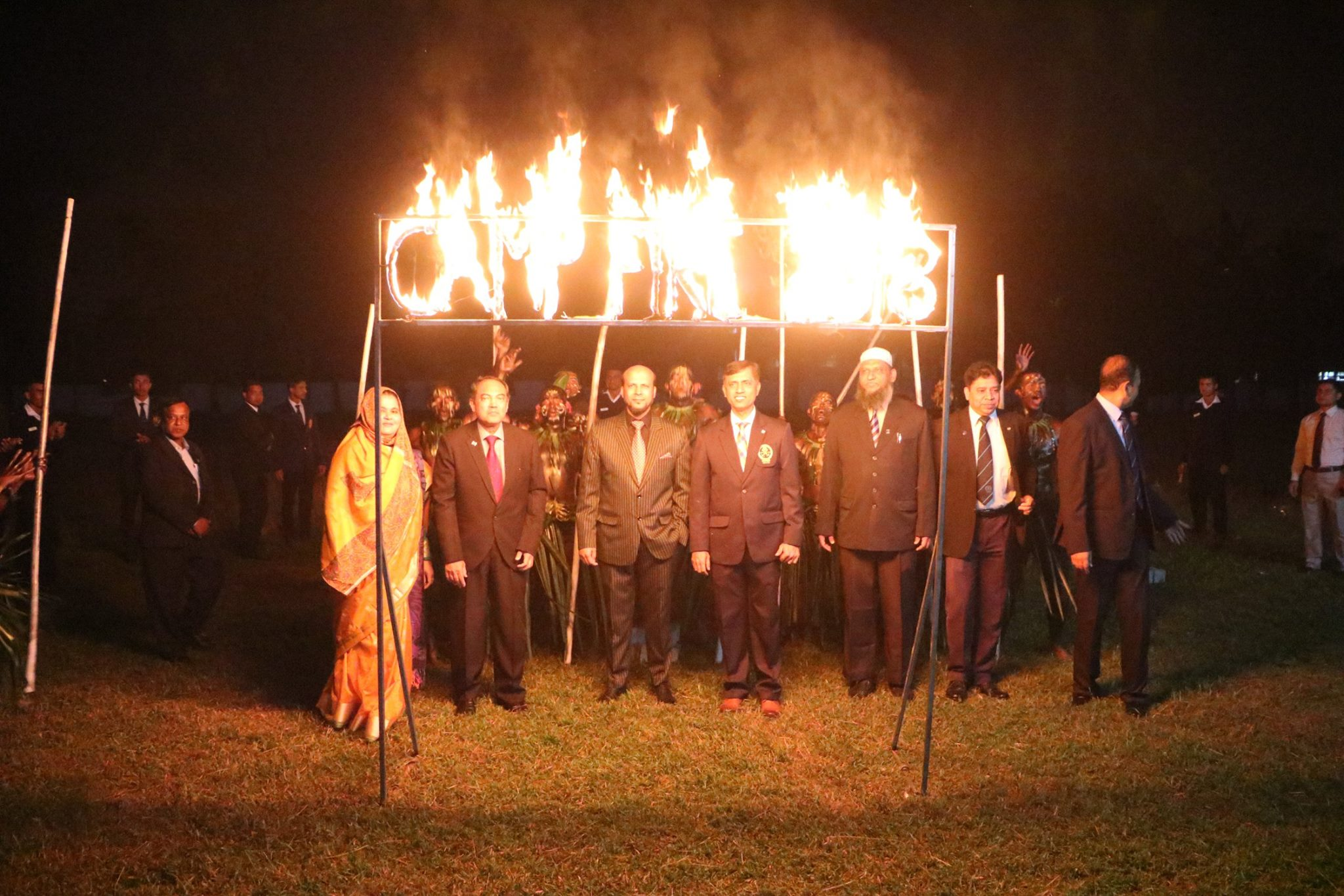 Camp Fire 2018, 53rd & 54th Batch Cadets had this exotic event on 26th Nov. evening along with the Officers & families.