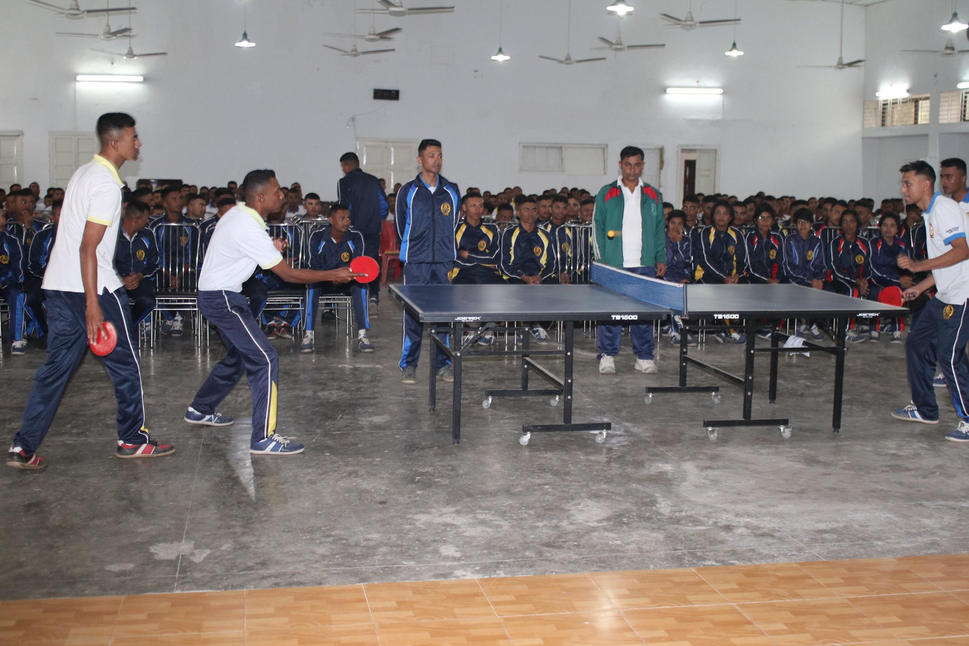 Indoor Games (Table Tennis) Competition > 54 & 55 Batch Cadets