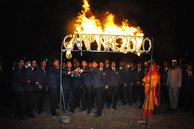 Cadets' Campfire on 17 Feb 2021; 55th Batch Cadets